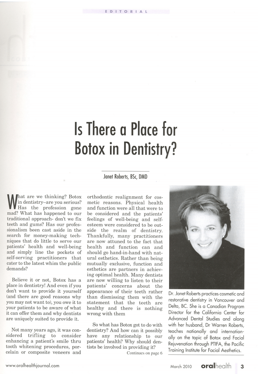 Is there a place for Botox® in Dentistry?