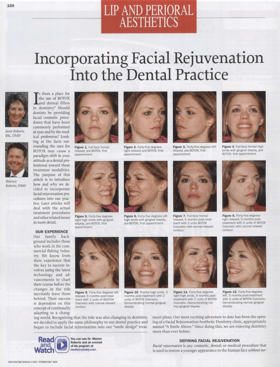 Incorporating Facial Rejuvenation into the Dental Practice