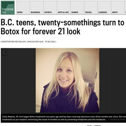 BC teens, twenty-somethings turn to Botox for forever 21 look
