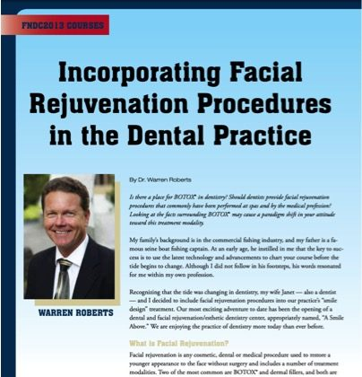 Incorporating Facial Rejuvenation Procedures in the Dental Practice