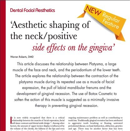 Esthetic Shaping of the Neck/Positive Side Effects on the Gingiva