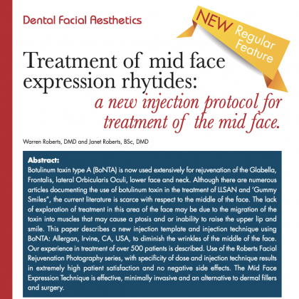 Treatment of mid-face expression rhytides