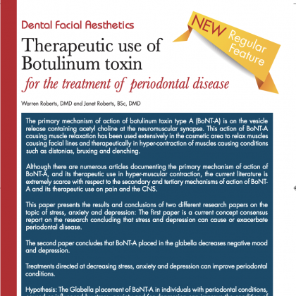Therapeutic use of Botulinum Toxin for the Treatment of Periodontal Disease