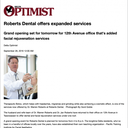Roberts Dental offers expanded services